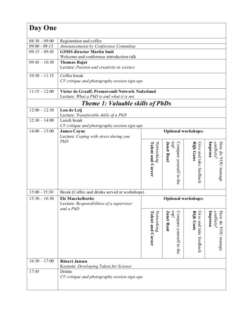 Conference Schedule-2013